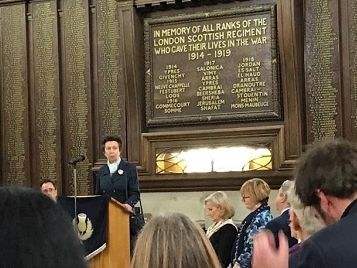 Princess Royal Attends Scots in Great War London Event