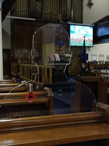 The 'There But Not There' installation at Bellshill Central Parish Church